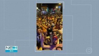 Atos políticos em Cupira, no Agreste, descumprem regras da pandemia e leis eleitorais - Partidários do atual prefeito e da oposição foram às ruas da cidade e promoveram aglomerações, sem máscaras