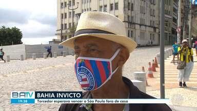 Bahia empata contra o São Paulo, mas segue invicto no Campeonato Brasileiro - Sobre o rubro-negro, próxima partida do Vitória será contra o CRB pela Série B.