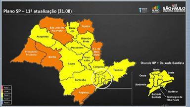 Destaques do G1: Alto Tietê é mantido na fase amarela do Plano São Paulo - Essa é a sétima semana que a região fica na fase amarela do plano. Com essa atualização, não tem mudança nas atividades.