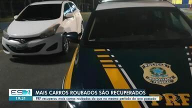 PRF-ES recuperou mais de 300 veículos desde o início do ano - Veja na reportagem.