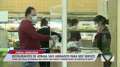 Atibaia adota regras alternativas para permitir o self-service em restaurantes - Prática só é permitida no Plano São Paulo com regras rígidas