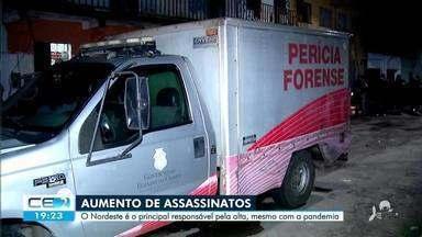Nordeste é a região com mais assassinatos doo Brasil - Saiba mais no g1.com.br/ce