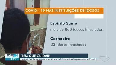 Mais de 800 casos de Covid-19 são confirmados em asilos do ES - Veja na reportagem.