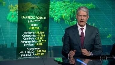 Brasil cria 131 mil empregos com carteira assinada em julho - Mercado formal de trabalho tem saldo positivo, depois de quatro meses em queda.