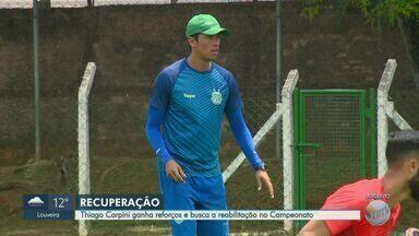 Guarani ganha reforços e busca a reabilitação na série B do Campeonato Brasileiro - Próximo jogo do time acontece nesta segunda-feira (24), contra o Chapecoense as 20h, na Arena Condá, em Chapecó.
