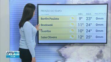 Confira a previsão do tempo para este domingo (23) na região de Ribeirão Preto - Temperaturas continuam baixas.