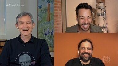 Junior Lima e Andreas Kisser relembram polêmica do carreira - Serginho conversa com os músicos