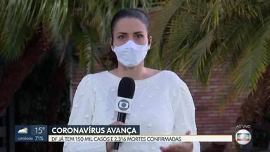 DF ultrapassa os 150 mil casos de coronavírus - Já são 2.316 mortes confirmadas pela covid-19.
