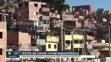 Campanha leva testes de covid-19 a Paraisópolis - Empresas se uniram para testar 600 moradores da comunidade até dia 03/09.