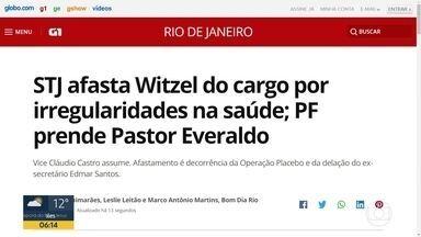 STJ decide afastar Wilson Witzel do cargo de governador do RJ - A Polícia Federal prendeu o pastor Everaldo numa operação na manhã desta sexta (28).