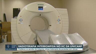 Problema em servidor interrompe sessões de radioterapia no Hospital de Clínicas da Unicamp - Cerca de 70 pacientes foram afetados nos últimos 12 dias; especialista destaca que intervalos superiores a 48 horas afetam a efetividade do tratamento contra o câncer.