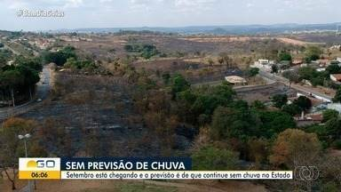 Há mais de 100 dias sem chuva, Goiás registra tempo seco e quente - Temperaturas máximas aumentaram em todo o estado; confira.