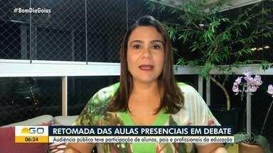 Profissionais da educação e pais debatem volta às aulas presenciais em Goiás - Autoridades querem ouvir envolvidos para avaliar como proceder nos próximos meses.