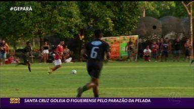 Pandi foi o destaque do Santa Cruz em goleada no Parazão da Pelada - Pandi foi o destaque do Santa Cruz em goleada no Parazão da Pelada