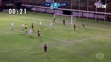 """Corinthians marca """"gol mais rápido"""" da história do Brasileirão Feminino - Corinthians venceu o Flamengo por 3 x 1"""