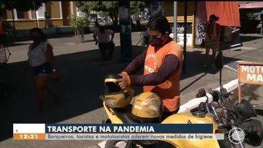 Barqueiros, taxistas e mototaxistas aderem a regras sanitárias em Floriano - Barqueiros, taxistas e mototaxistas aderem a regras sanitárias em Floriano