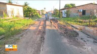 Moradores de Santa Inês reclamam da qualidade de obras de asfaltamento na região - A qualidade do serviço tem sido motivo de insatisfação.
