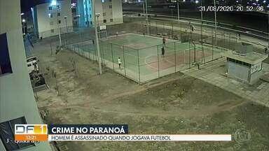Homem é assassinado quando jogava futebol - Um homem foi morto na quadra onde jogava futebol, no Paranoá.