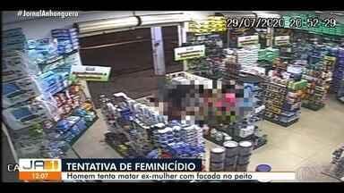 Homem tenta matar ex-mulher a facadas, em Goianésia - Ele foi preso.