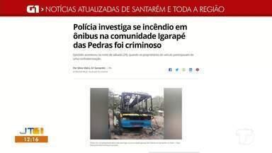 Incêndio de ônibus na comunidade Igarapé do Costa é notícia em destaque no G1 Santarém - Acesse a reportagem completa no g1.com.br/tvtapajos