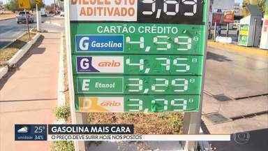 Gasolina sobe de novo - Os postos já devem vender a gasolina mais cara a partir de hoje.