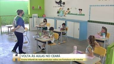 Ensino infantil da rede particular volta às aulas presenciais em 43 cidades do Ceará - No Pará, crianças também voltaram hoje para as salas de aula mas só em cidades onde o risco de contaminação pela COVID-19 está mais baixo.