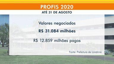 Prefeitura de Londrina já negociou 31 milhões de reais com o Profis 2020 - Efetivamente já foram pagos mais de 12 milhões de reais. Até o final de setembro é possível quitar dívidas com o município com desconto de 100% em juros e multas
