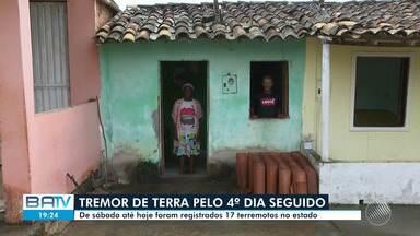 Tremor de terra é registrado pelo quarto dia consecutivo em cidades do recôncavo baiano - Moradores dos municípios relatam preocupação. 17 terromotos já foram registrados, desde sábado (29).