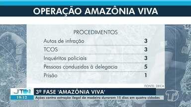 3ª fase da operação 'Amazônia Viva' combate a extração ilegal de madeira - Ação da Polícia Militar durou cerca de 15 dias e passou por quatro cidades.