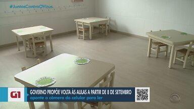 Caxias do Sul autoriza a retomada das atividades de escolas privadas da educação infantil - A prefeitura anunciou que as aulas presenciais do ensino superior serão permitidas a partir de 21 de setembro, data estabelecida pelo governo do RS.