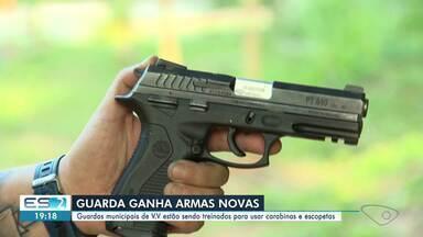 Guardas municipais de Vila Velha estão sendo treinados para usar carabinas e escopetas - Confira na reportagem.