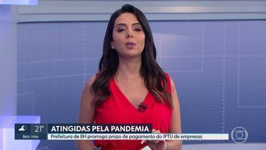 Prefeitura de BH prorroga prazo do IPTU para empresas prejudicadas pela pandemia - O imposto devido, desde abril, poderá ser parcelado em 6 vezes a partir de novembro.