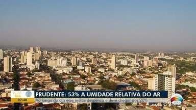 Índice da umidade relativa do ar deve despencar em Presidente Prudente - Confira a previsão do tempo para o Oeste Paulista.