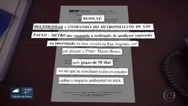 Ministério Público de São Paulo recomenda suspensão de obra do Metrô no Jardim Têxtil - E dá 90 dias para a companhia fazer um estudo do impacto ambiental na região do chamado Complexo da Rapadura, na zona leste