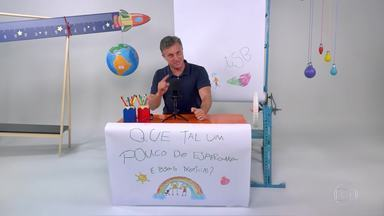 Que Tal Um Pouco de Esperança e Boas Notícias? - Luciano Huck apresenta seu telejornal caseiro e conta a história de três jovens que desenvolveram um sistema de abastecimento de água para as populações ribeirinhas