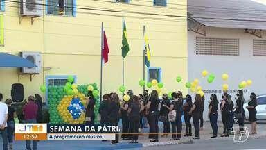 Encerrada programação alusiva à 'Semana da Pátria' em Santarém - Momento foi de reflexão cívica para os participantes.