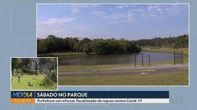 Prefeitura de Curitiba vai reforçar fiscalização de regras contra Covid-19 - Parques ficam movimentados na capital.