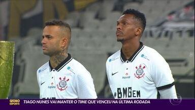 Tiago Nunes vai repetir o time contra o Botafogo - Tiago Nunes vai repetir o time contra o Botafogo