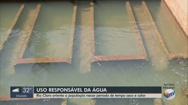Sem chuvas, Departamento de Água de Rio Claro orienta população sobre consumo - Com o tempo seco, as pessoas acabam consumindo mais água.