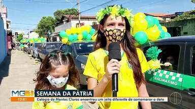 Colégio de Montes Claros celebra Semana da Pátria de forma diferente - Na próxima segunda feira (07), é comemorada a Independência do Brasil. E nessa semana, muitas escolas comemoraram a Semana da Pátria, com o objetivo de incentivar o patriotismo. Por causa da pandemia foi preciso se reinventar.