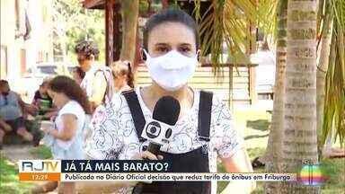 Decisão que reduz tarifa de ônibus em Nova Friburgo, RJ, é publicada em Diário Oficial - Tarifa pode ficar R$ 0,25 mais barata.