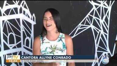 Cantora Allyne Conrado esquenta a tarde de sábado com o melhor do forró - Cantora Allyne Conrado esquenta a tarde de sábado com o melhor do forró