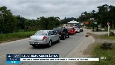 Cidades montam barreiras sanitárias para aumentar controle de turistas no feriadão - Cidades montam barreiras sanitárias para aumentar controle de turistas no feriadão