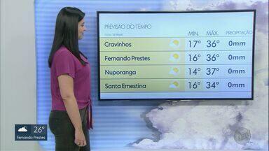 Confira a previsão do tempo para este domingo (6) na região de Ribeirão Preto - Temperaturas continuam altas com baixos índices de umidade relativa do ar neste final de semana.