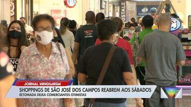 Depois de cinco meses, shoppings voltam a abrir em São José dos Campos - Comerciantes estão otimistas com retomada da economia