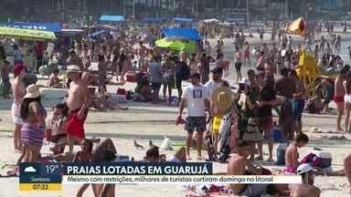 Cinco banhistas morrem afogados em domingo de praias lotadas no litoral paulista - Mais de 150 mil turistas desceram a serra pelo sistema Anchieta-Imigrantes.