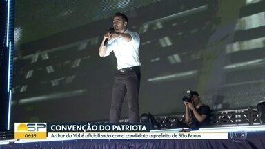 Eleições 2020 - Convenção do Patriota - Arthur do Val é oficializado como candidato a prefeito de São Paulo.