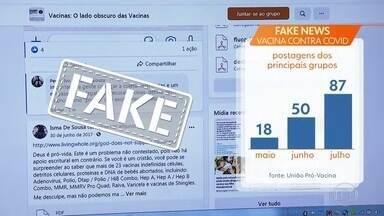 Quanto mais perto a ciência está da vacina contra a Covid, maior é o número de fake news - É o que mostra um levantamento feito por instituições ligadas à USP de Ribeirão Preto.