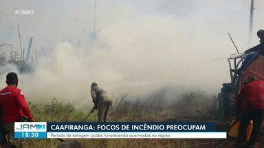 Caapiranga: focos de incêndio preocupam - Período de estiagem acaba favorecendo queimadas na região