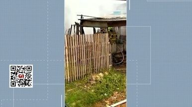 Criança causa incêndio em casa após brincar com isqueiro - Criança causa incêndio em casa após brincar com isqueiro